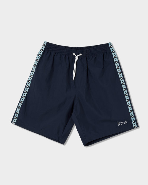 Polar Polar Square Stripe City/Swim Shorts Navy