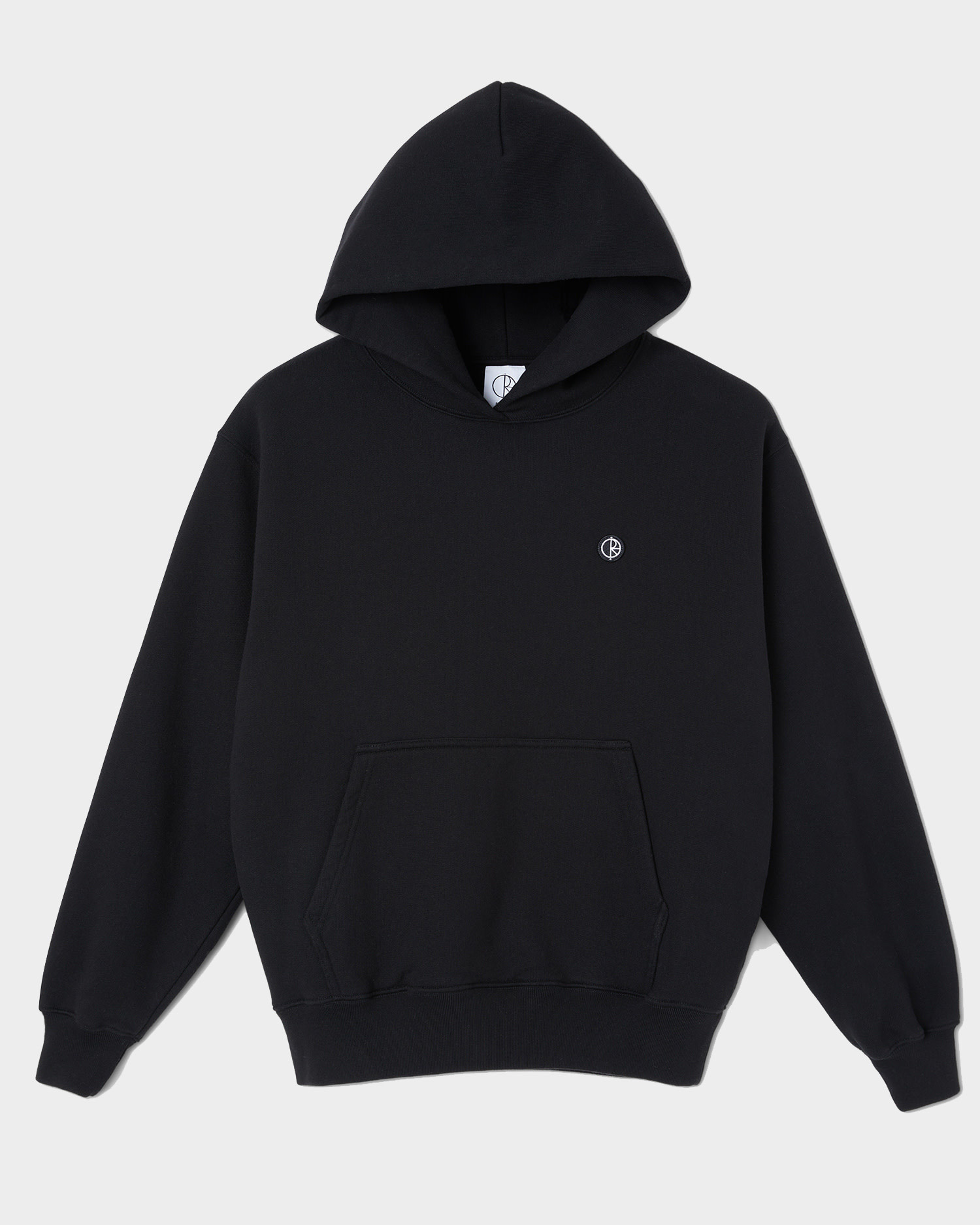 Polar Patch Hoodie Black
