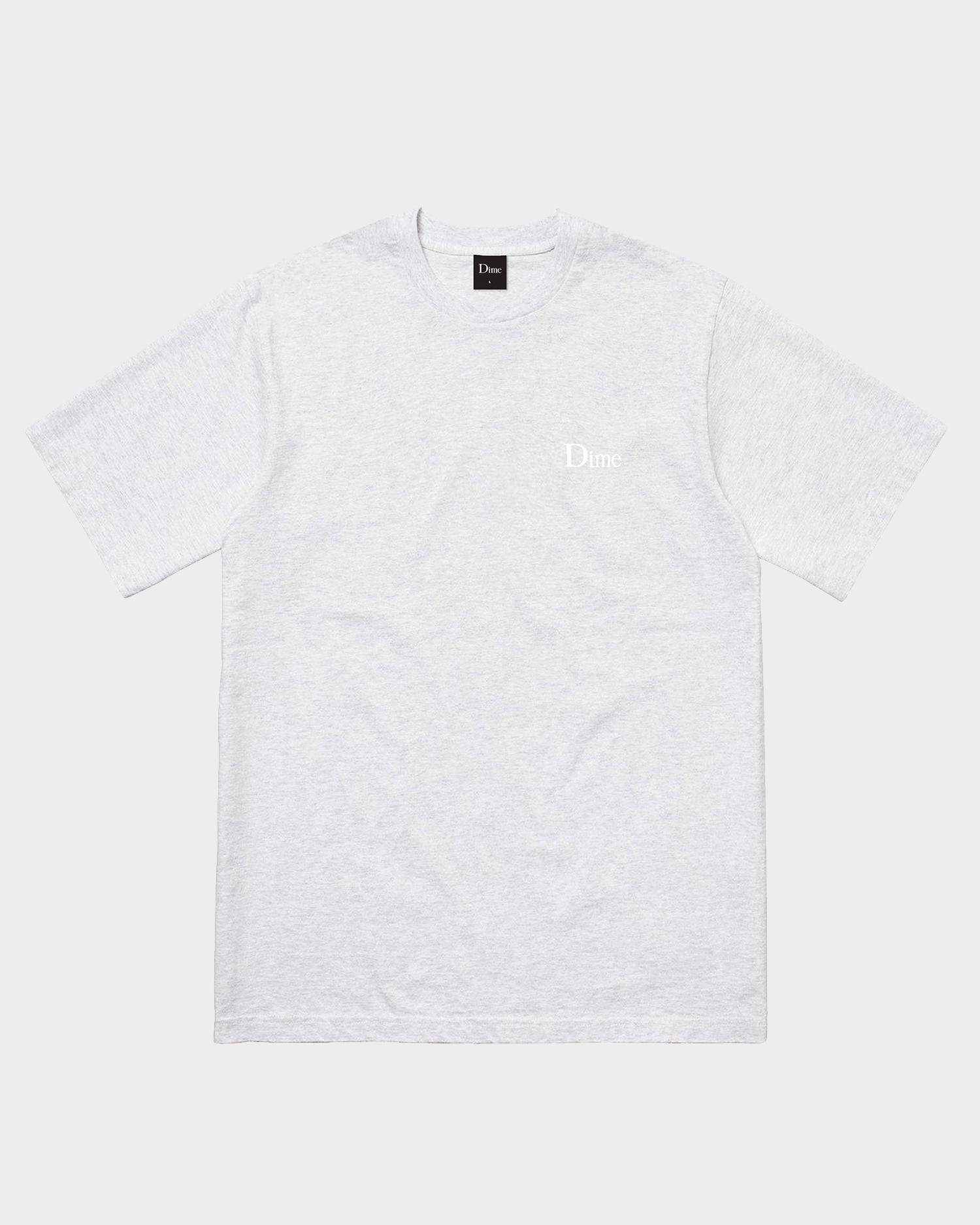 Dime Classic Small Logo T-Shirt Ash