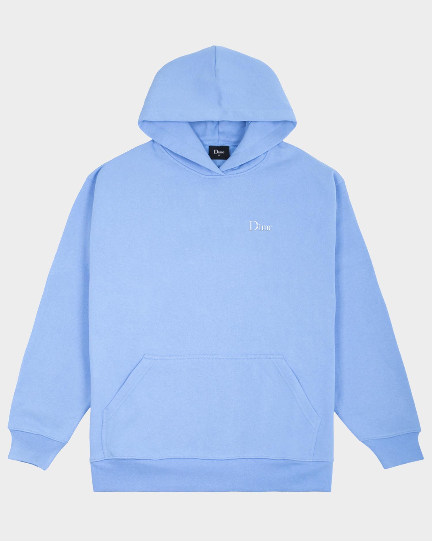 Dime Classic Small Logo Hoodie Carolina Blue