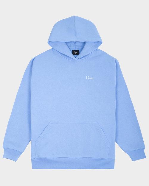 Dime Dime Classic Small Logo Hoodie Carolina Blue
