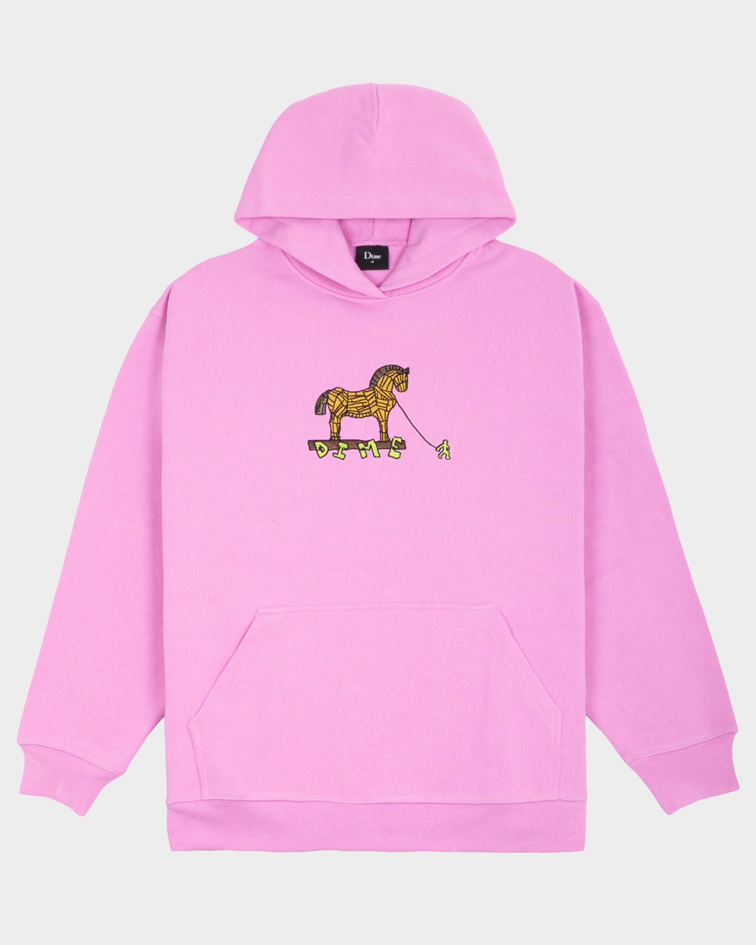 Dime Trojan Hoodie Light Pink