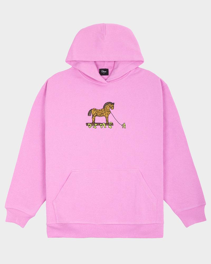 Dime Dime Trojan Hoodie Light Pink