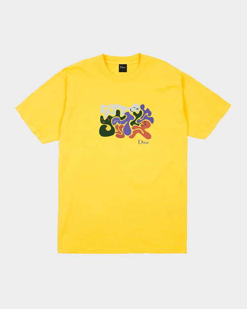 Dime Dime Laying T-Shirt Yellow