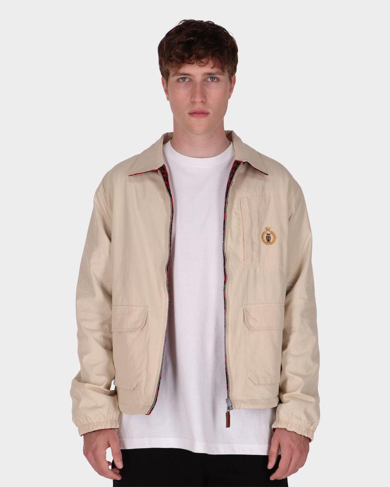 Patta Patta Reversible Jacket Oyster Grey/Red Leopard