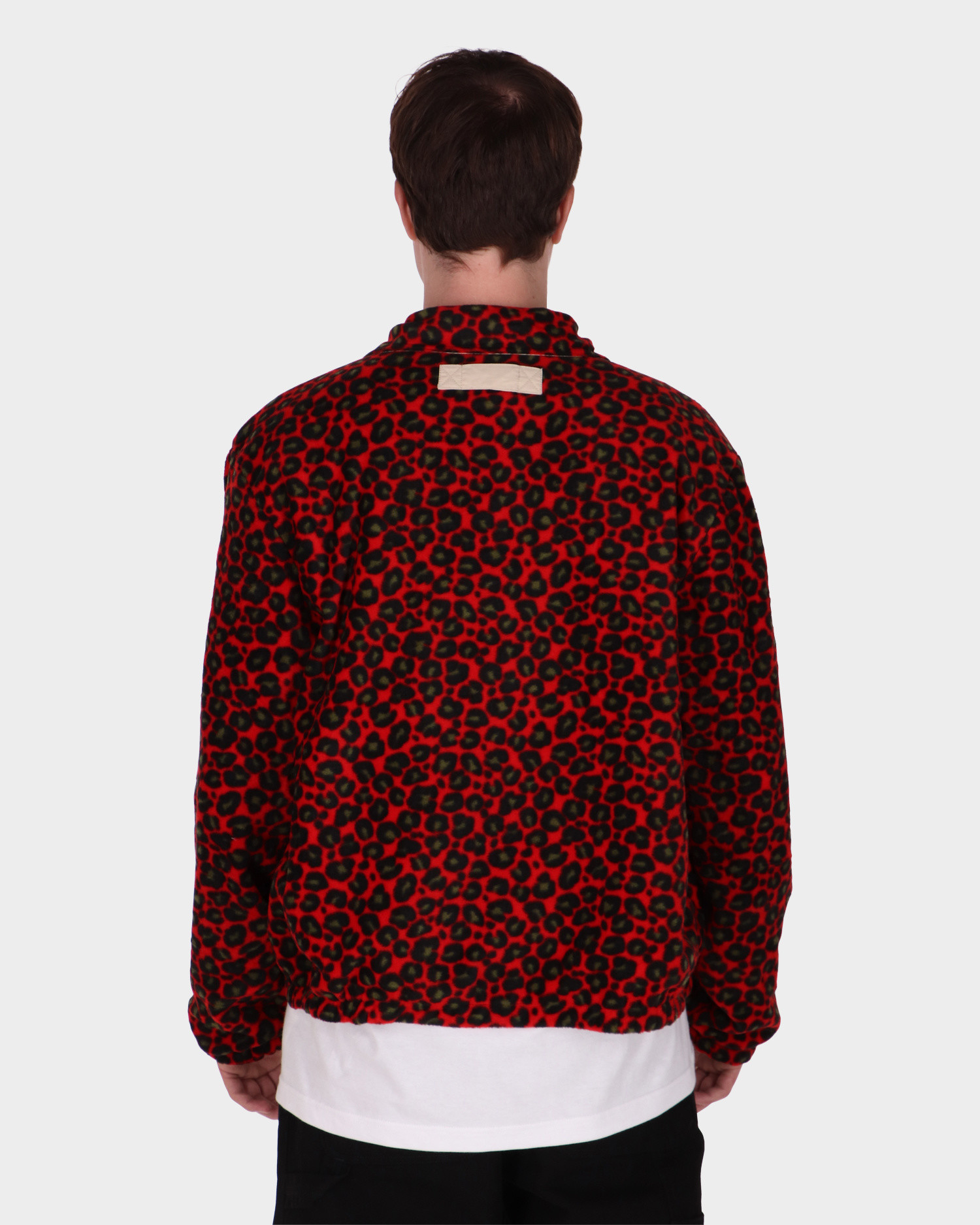 Patta Reversible Jacket Oyster Grey/Red Leopard