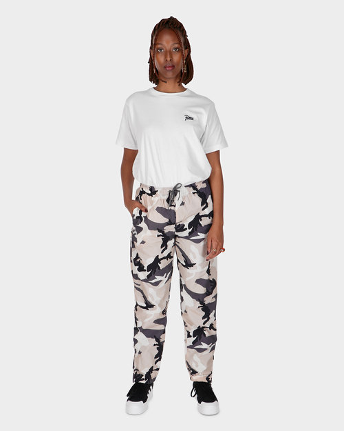 Patta Patta Basic Relaxed Nylon Track Pants Sand Woodland Camo