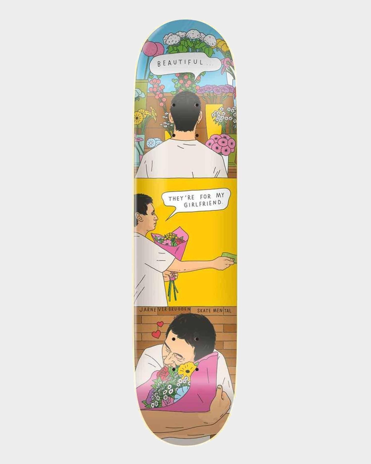 Skatemental Jarne Flowers Deck 8.25