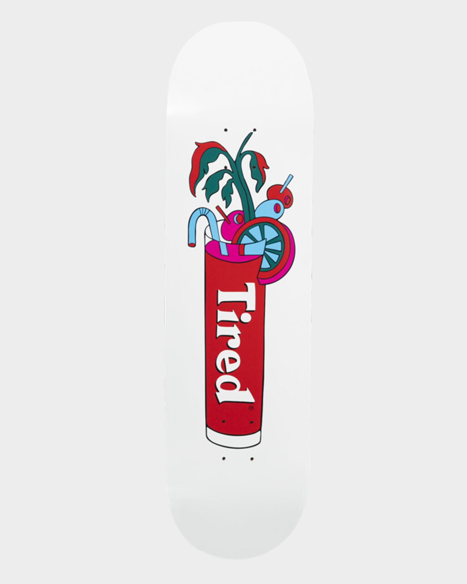 Tired Deck Bloody Skateboard 8.38