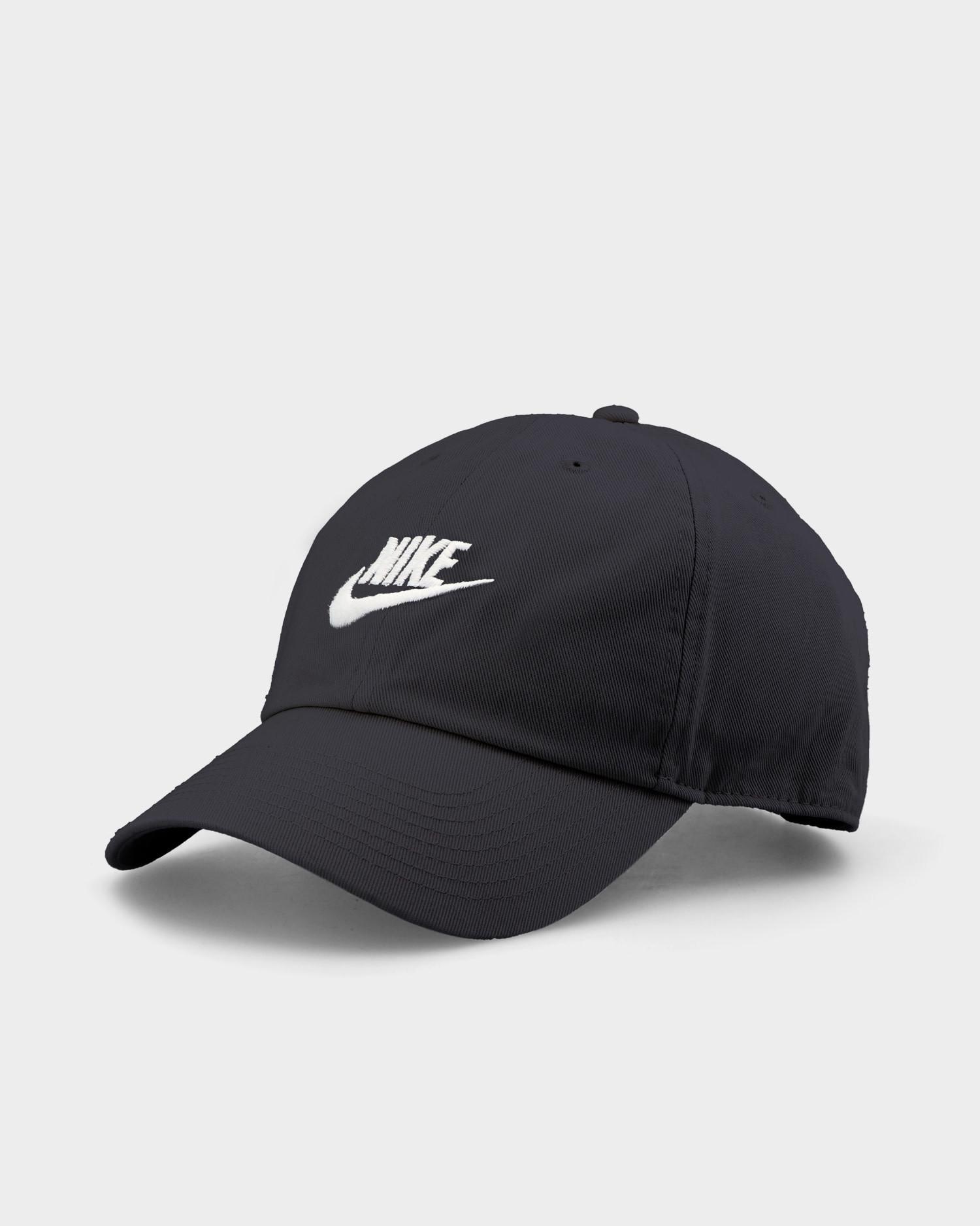 Nike Sportswear Heritage 86 Futura Washed Cap Black/Black/White