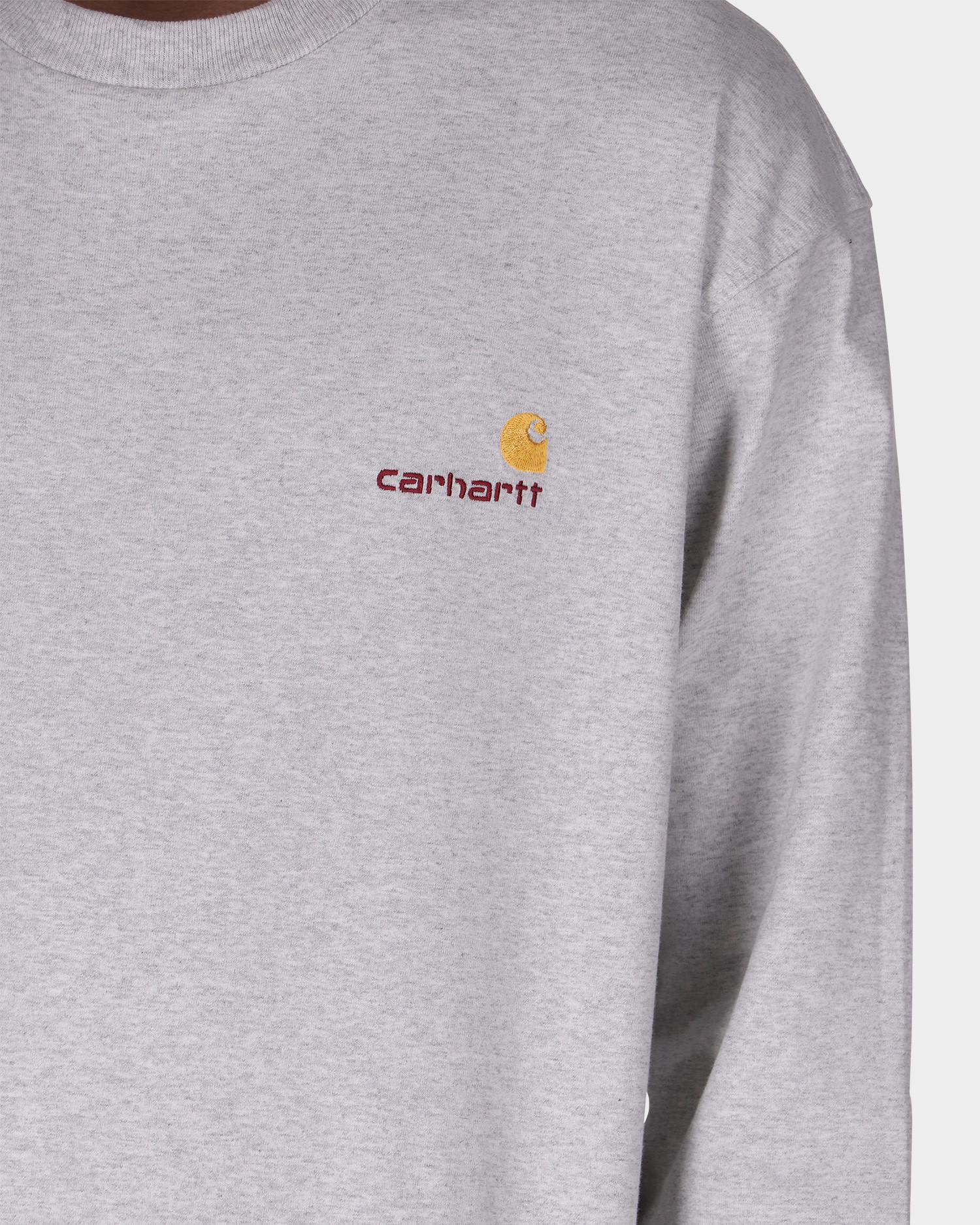 Carhartt American Script Longsleeve T-shirt Ash Heather