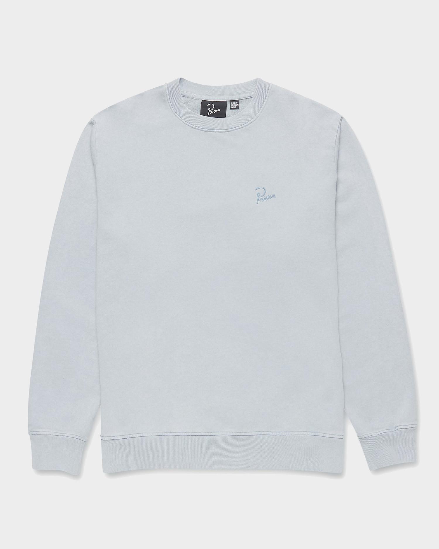 Parra signature logo Crewneck sweatshirt Dusty Blue