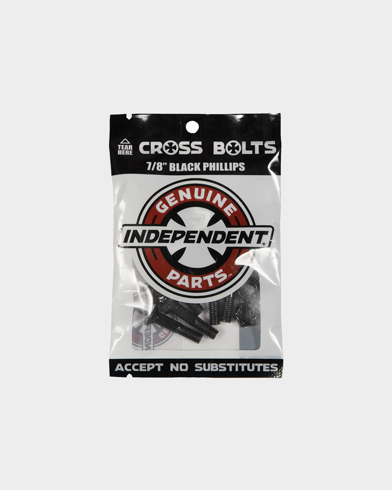 Independent Cross Philips 7/8 inch Bolts Black