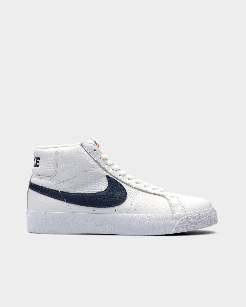 Nike Nike SB Zoom Blazer Mid White/Navy-Safety Orange