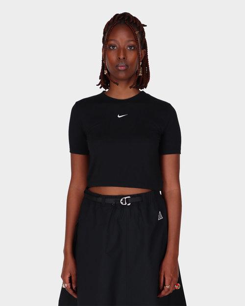 Nike Nike Croptop T-Shirt Black/White