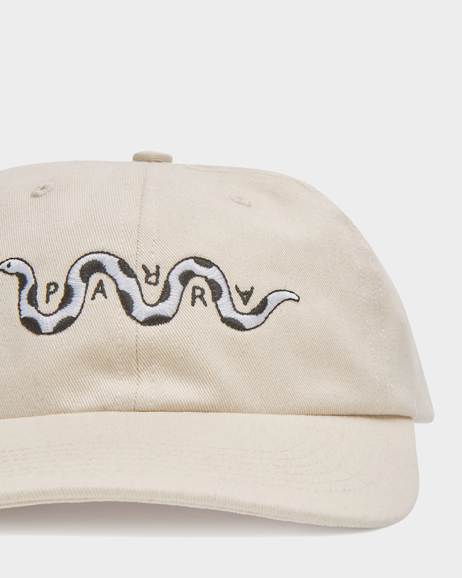 Parra Cap Snaked 6 Panel Hat Off White