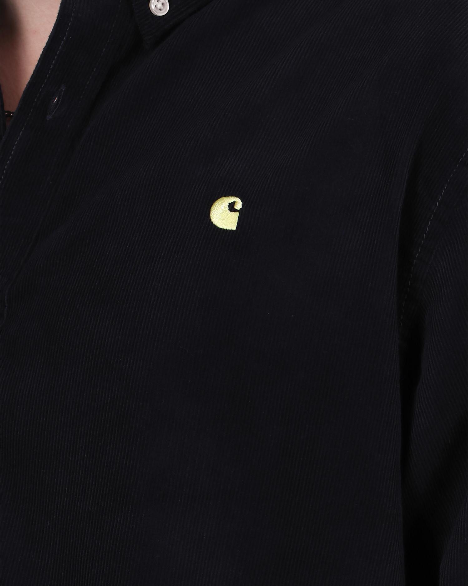 Carhartt Madison Cord Shirt Dark Navy/Limoncello