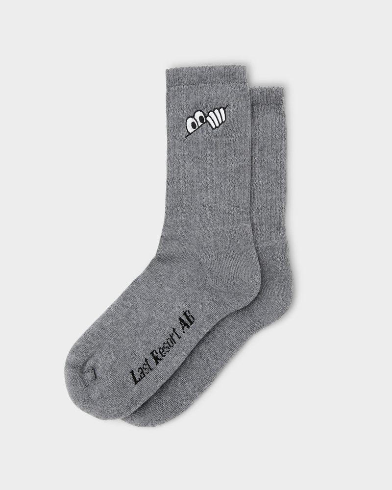 LAST RESORT Last Resort Eyes Socks Grey Melange