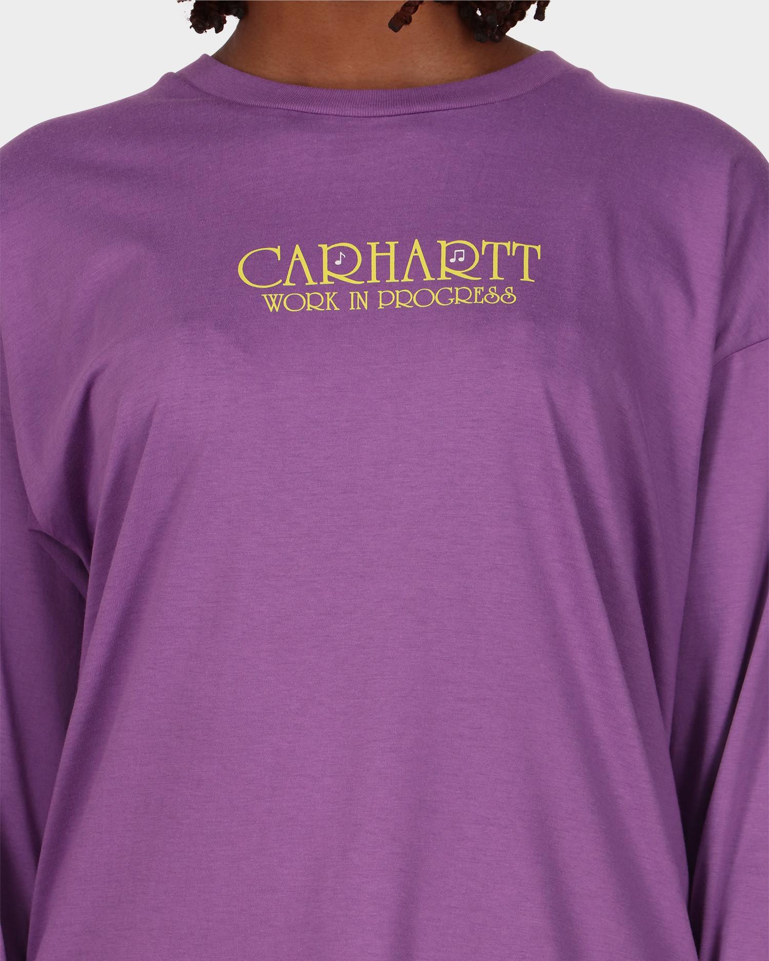Carhartt W' Longsleeve Note Script T-Shirt Aster