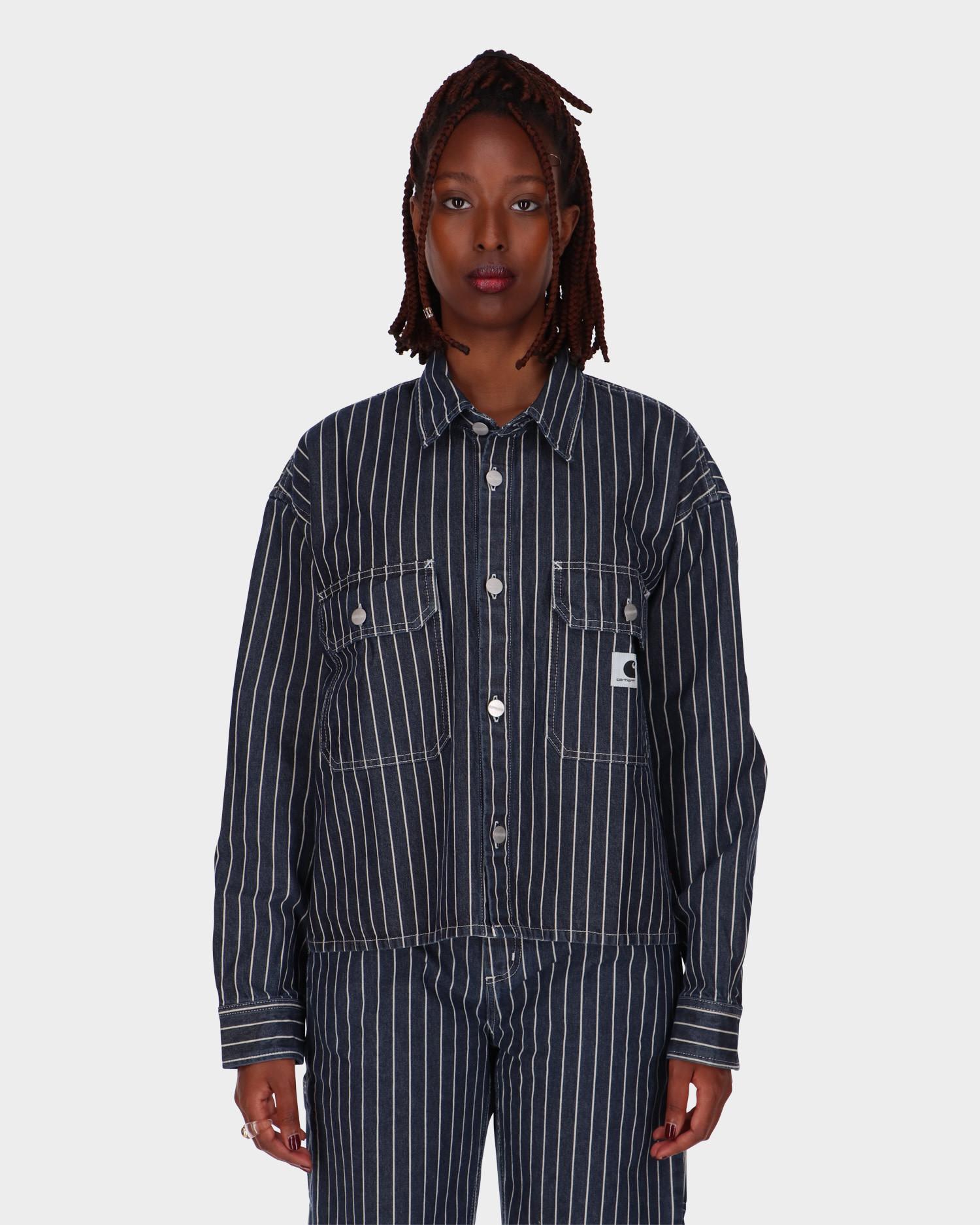 Carhartt W' Trade Longsleeve Shirt Dark Navy/Wax Rinsed