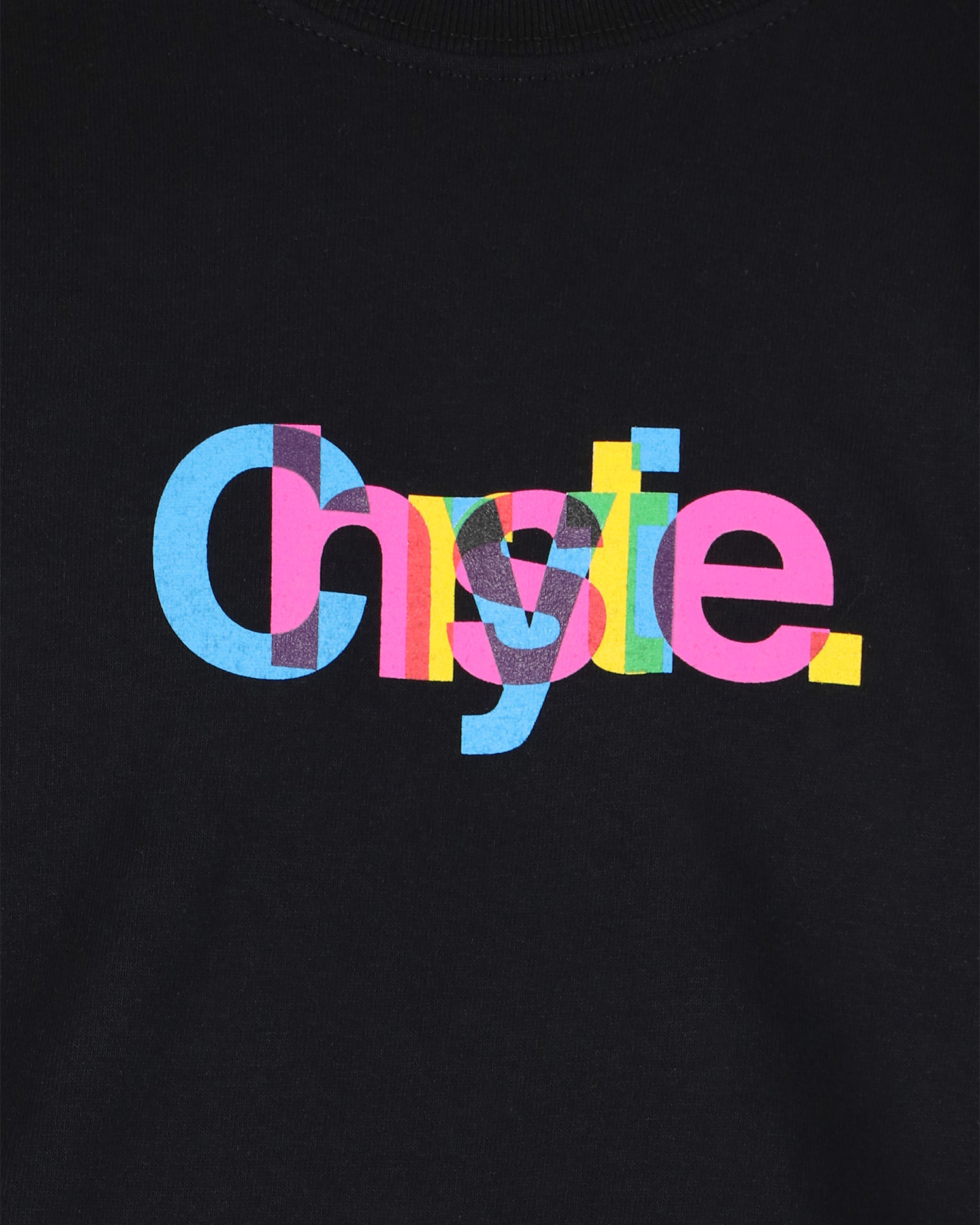 Chrystie NYC Massimo Logo T-shirt Black