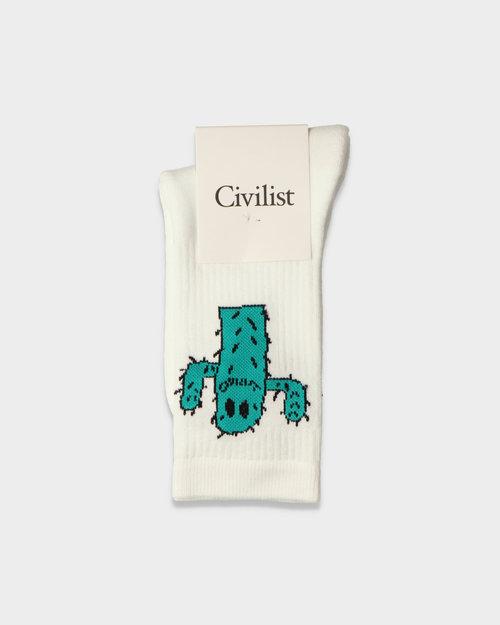Civilist Civilist Cactus Smiler Socks White