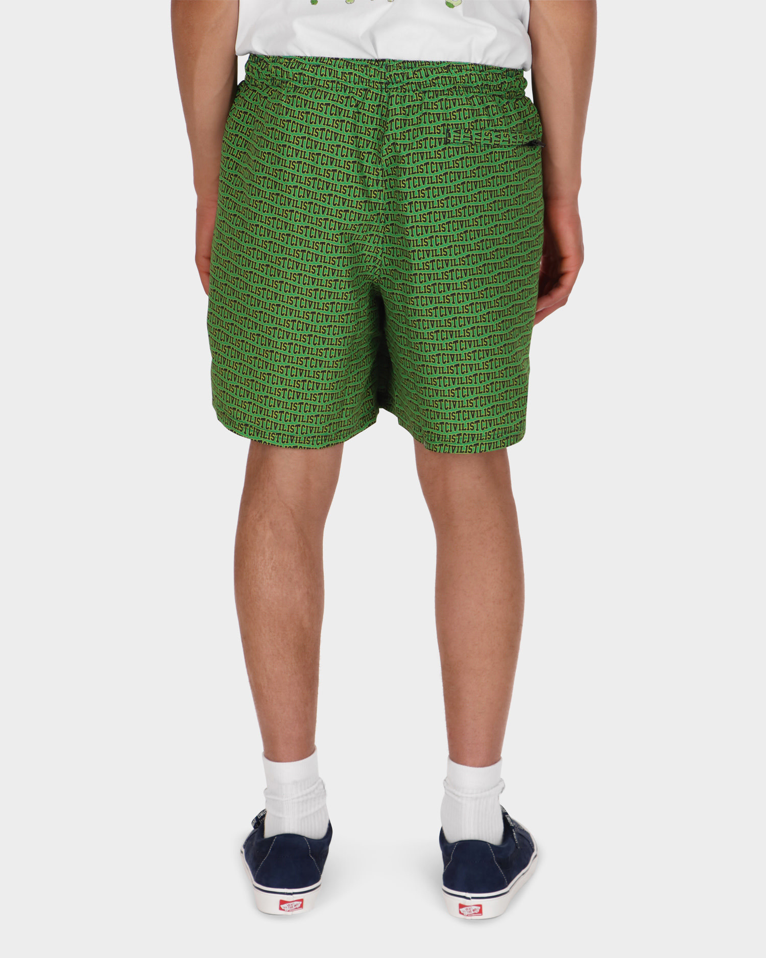 Civilist Allover Club Swim Shorts Green/Yellow