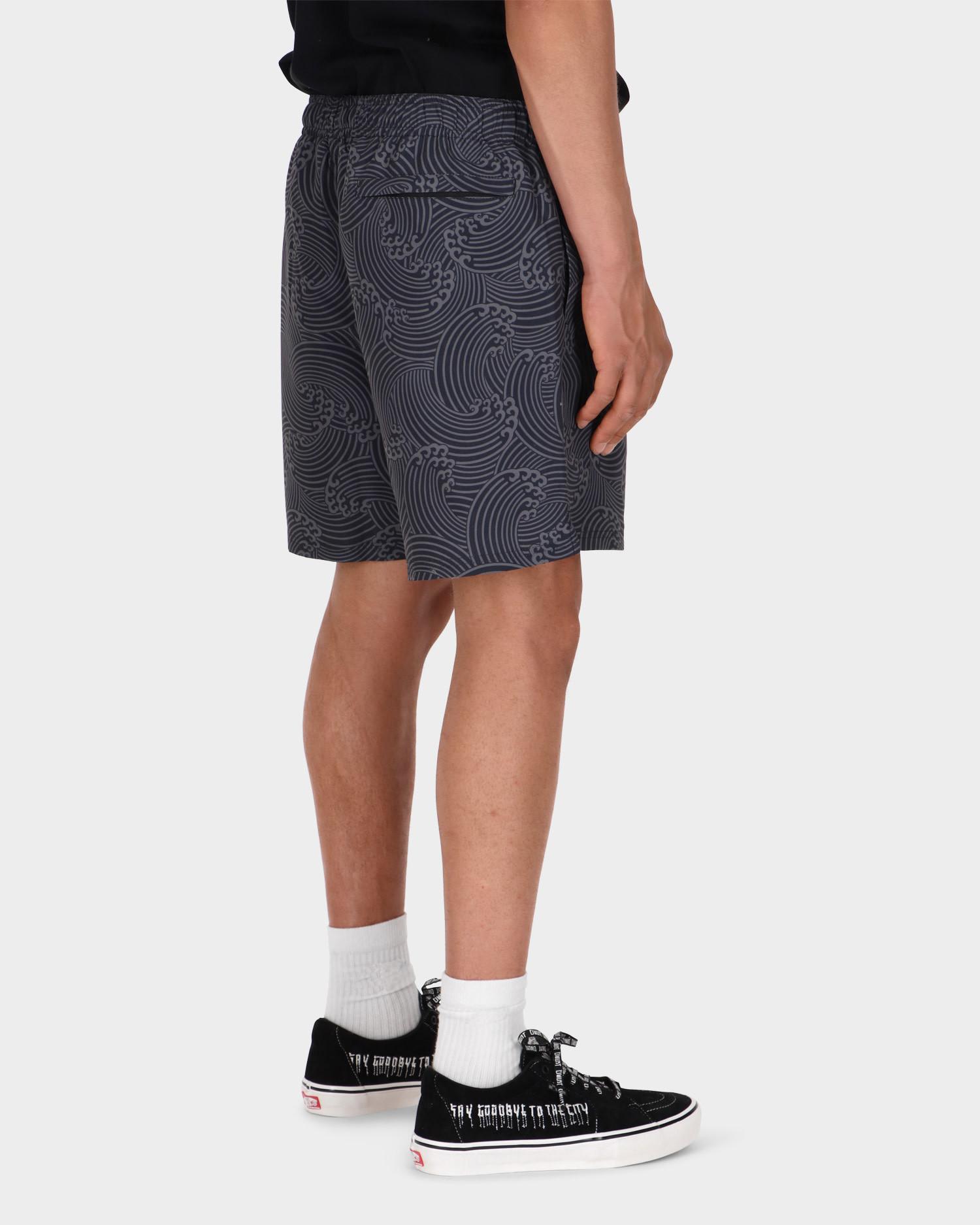 Civilist Wave Swim Shorts Black/Grey