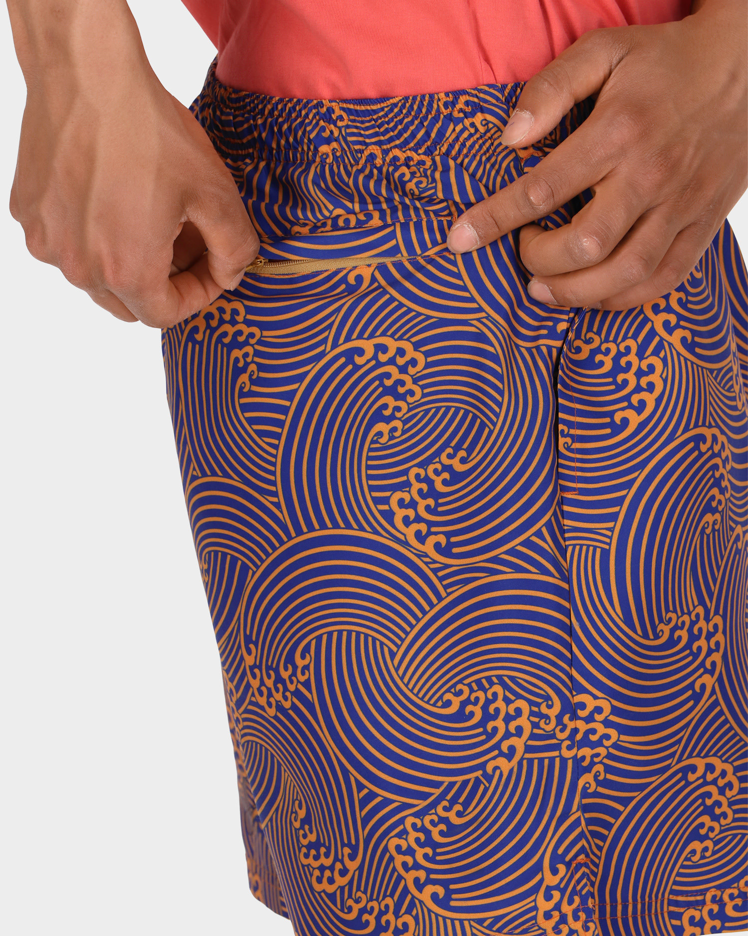 Civilist Wave Swim Shorts Orange/Royal