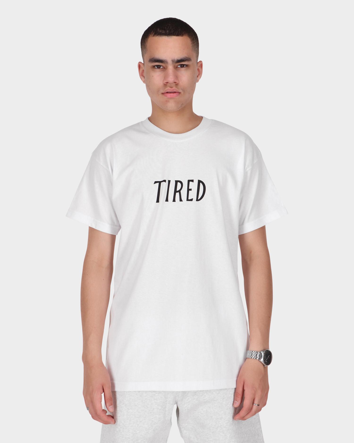 Tired Family Business Shortsleeve T-Shirt White