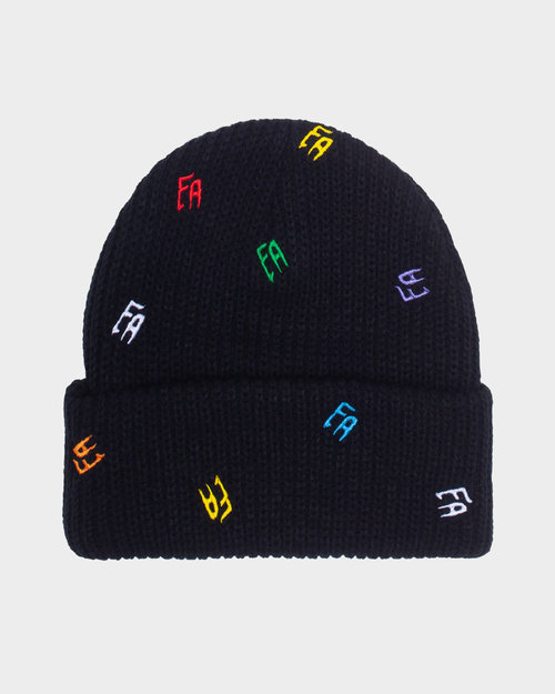 Fucking Awesome Fucking Awesome Scattered FA Cuff Beanie Black