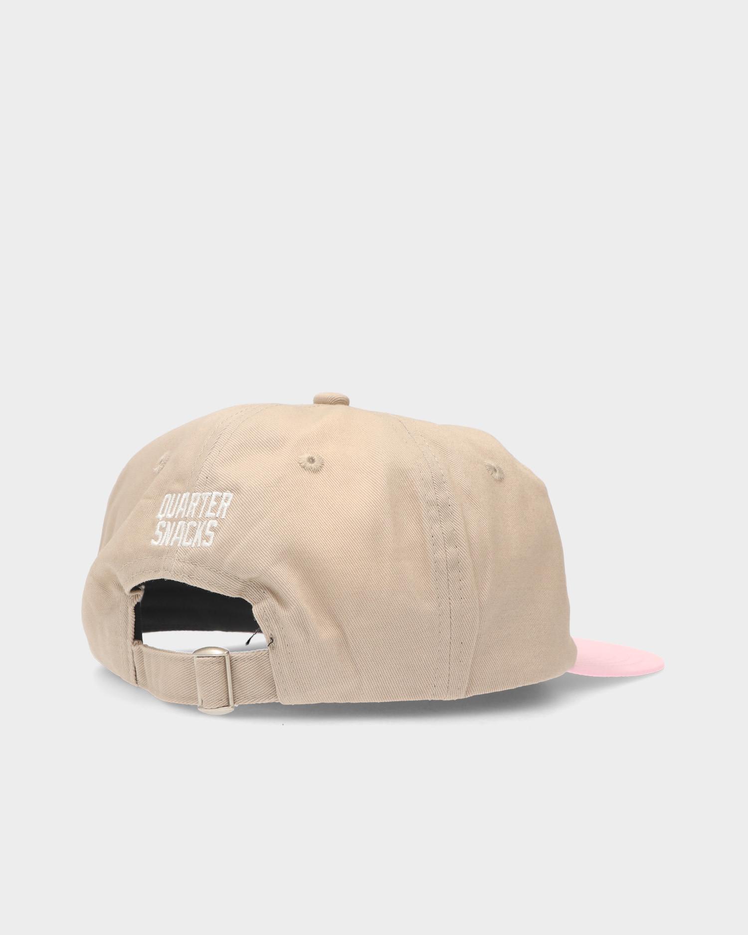 Quartersnacks Track Club Cap Tan/Pink