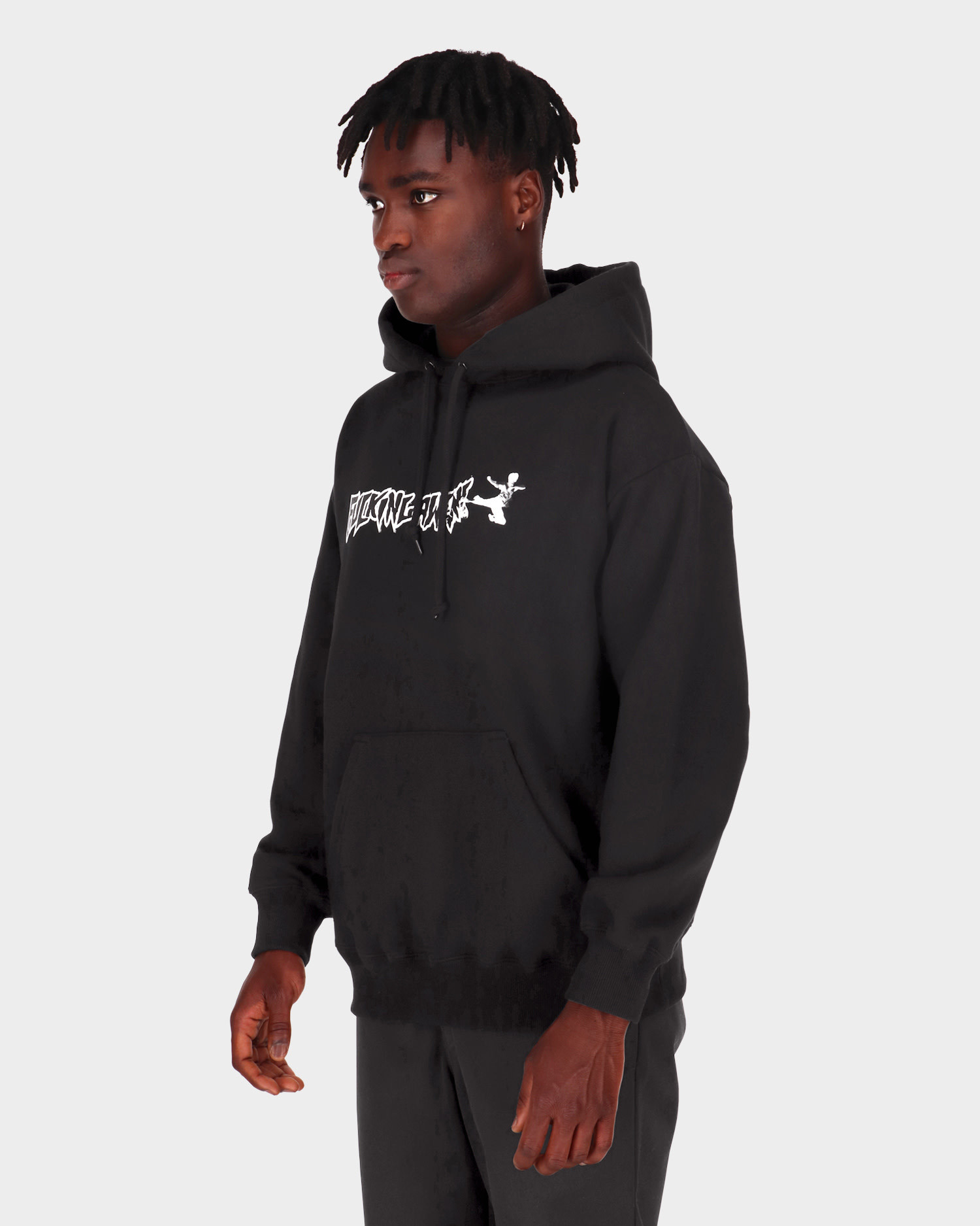 Fucking Awesome Karate Hoodie Black