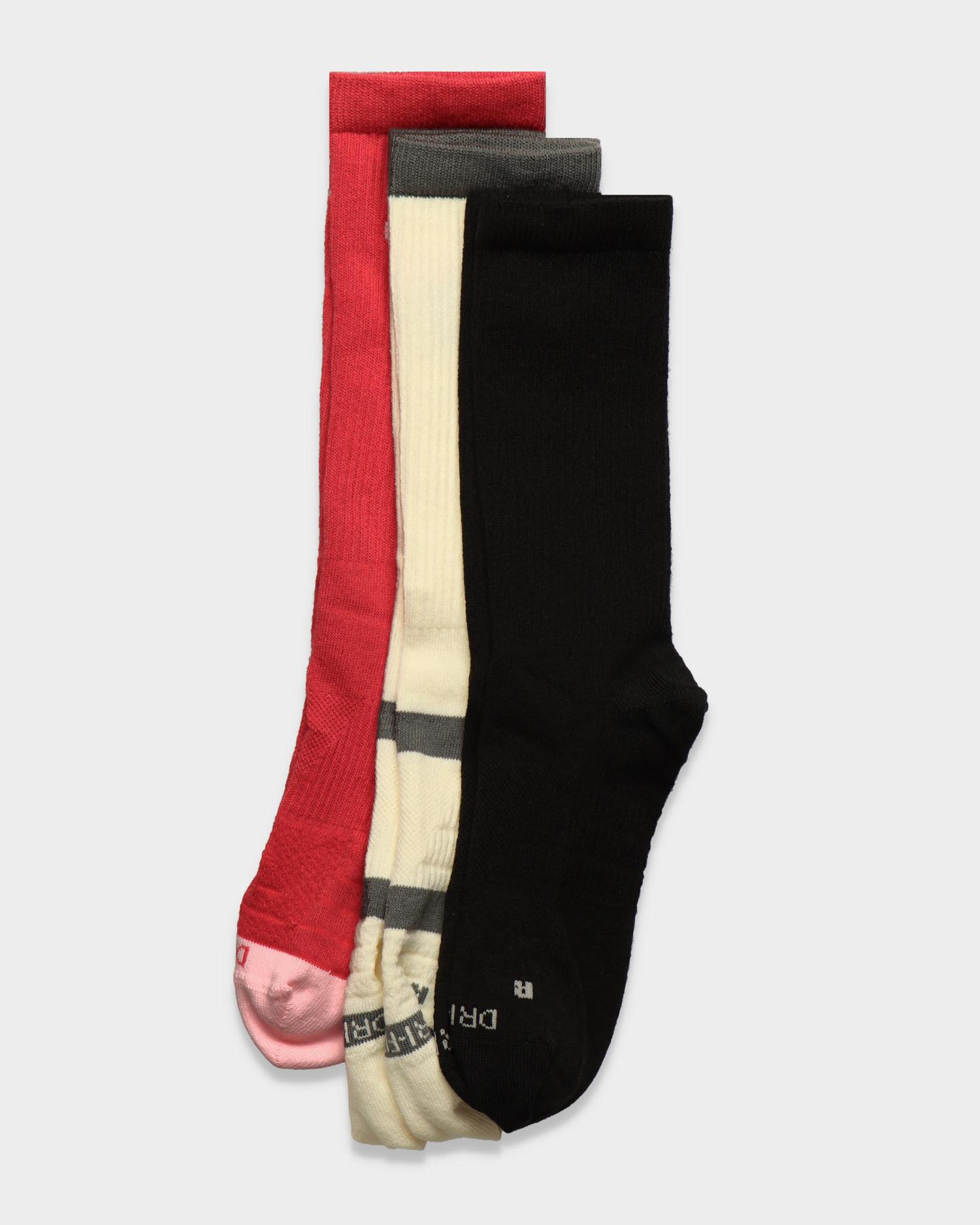 Nike Sb 3-Pack Socks Everyday Max Ltwt Crew Pink/Black/White