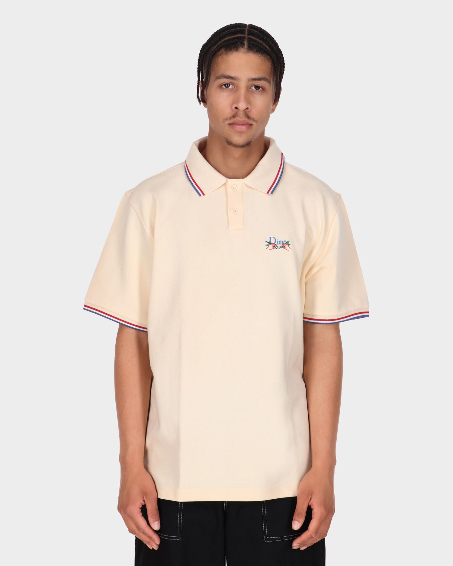 Dime Grass Polo Shirt Cream