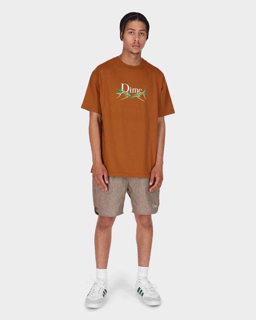 Dime Dime Allover Shorts Tan