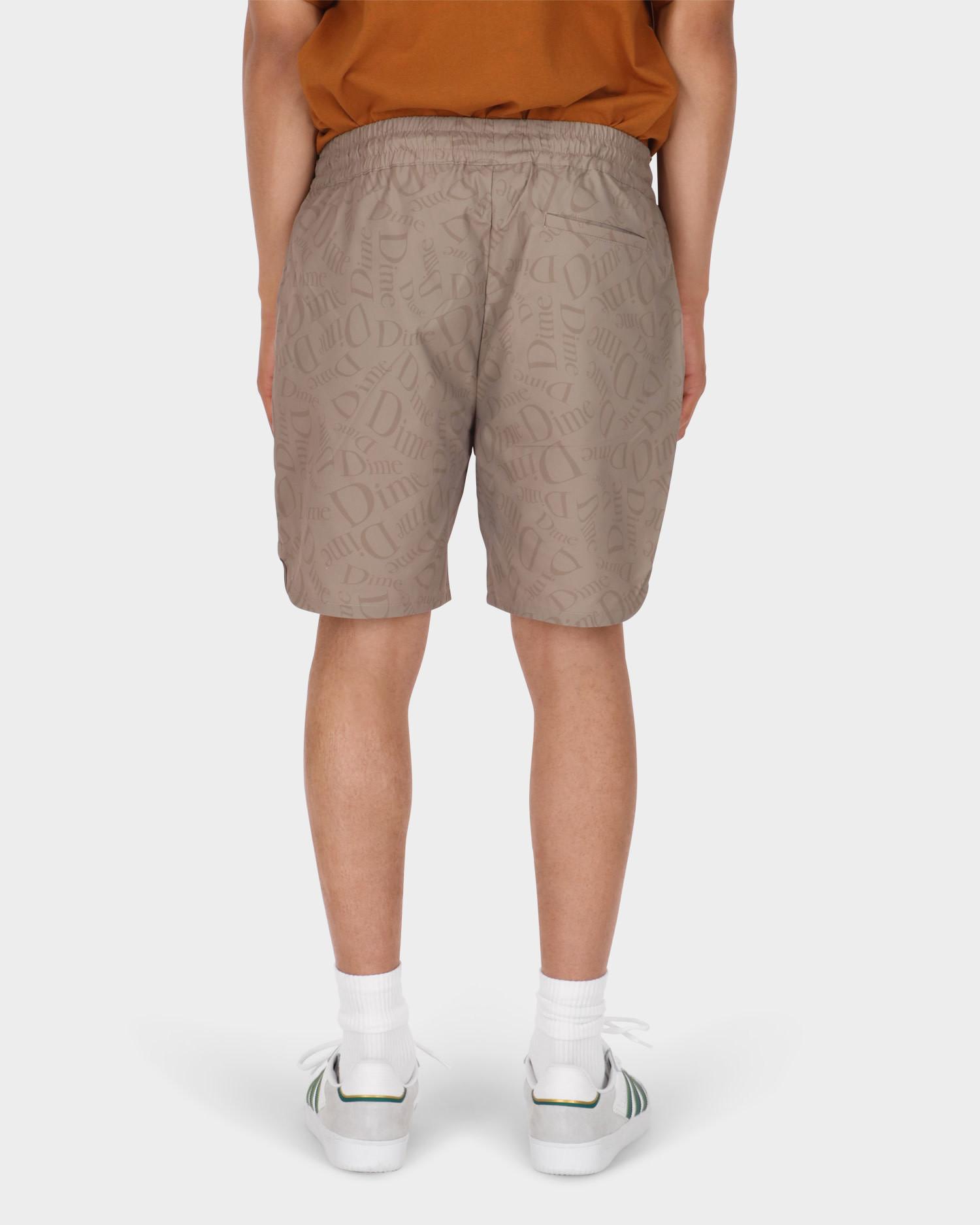Dime Allover Shorts Tan
