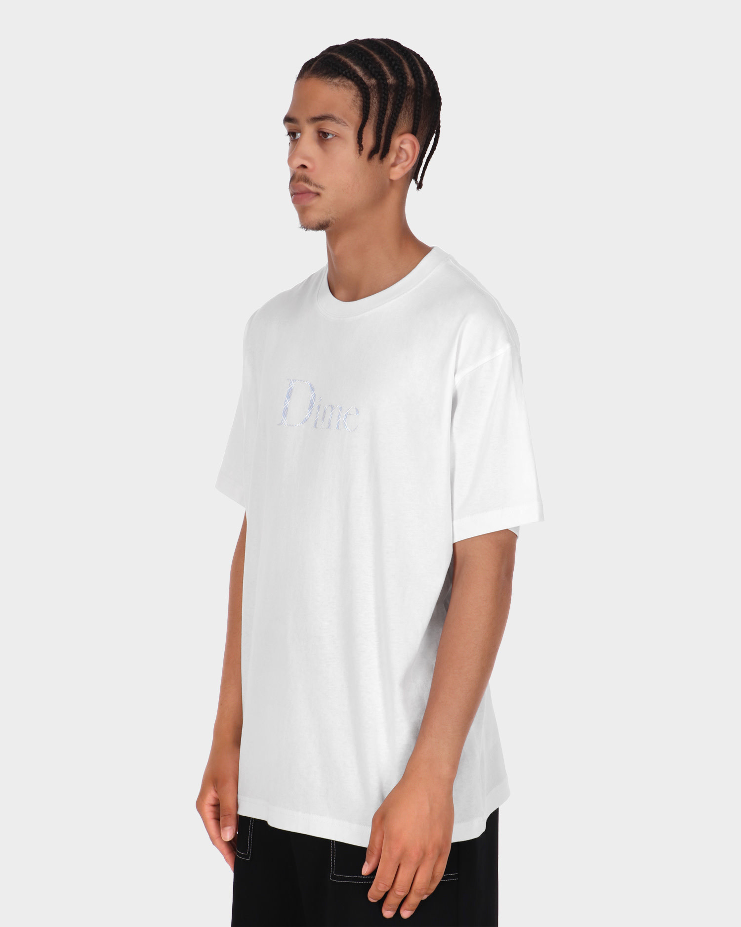 Dime Classic Plaid T-Shirt White