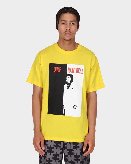 Dime Dime Restoration Face T-Shirt Yellow