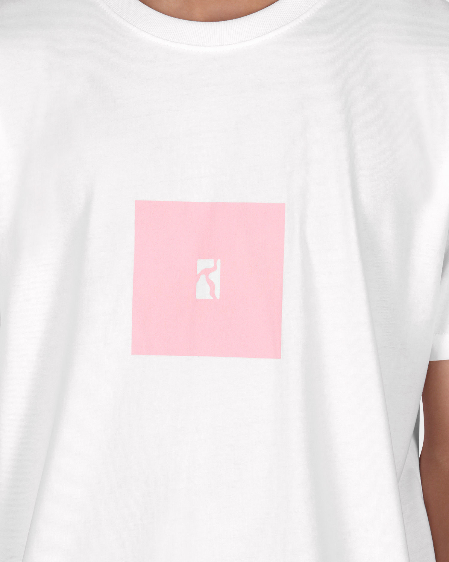 Poetic Collective Box T-shirt White/Pink
