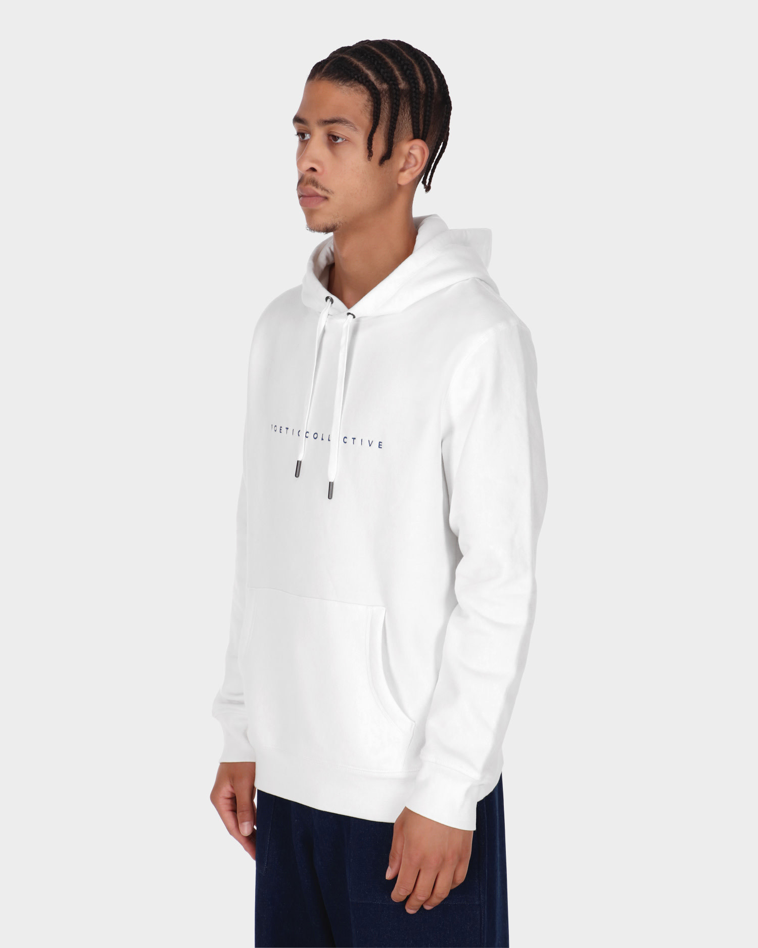 Poetic Collective Painting Hoodie White