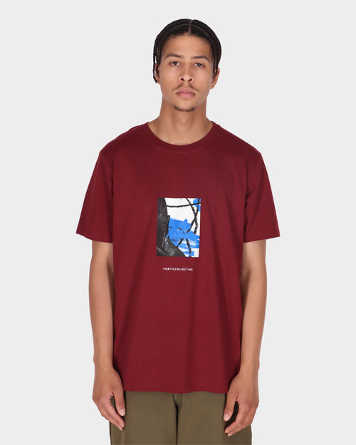 Poetic Collective Poetic Collective Painting T-shirt Burgundy