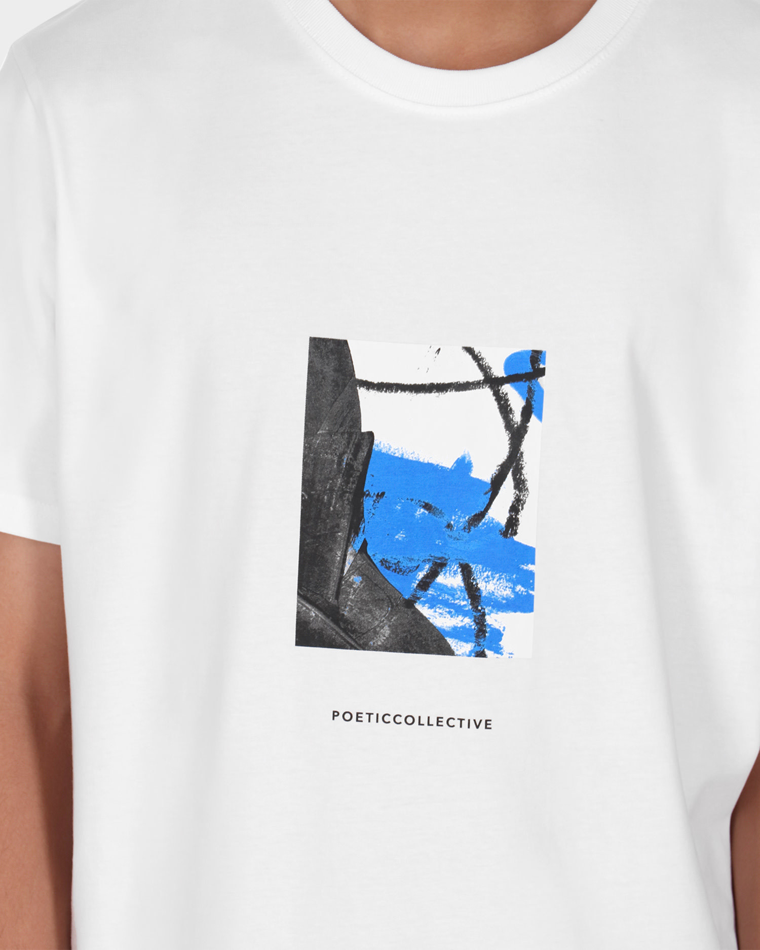 Poetic Collective Painting T-shirt White