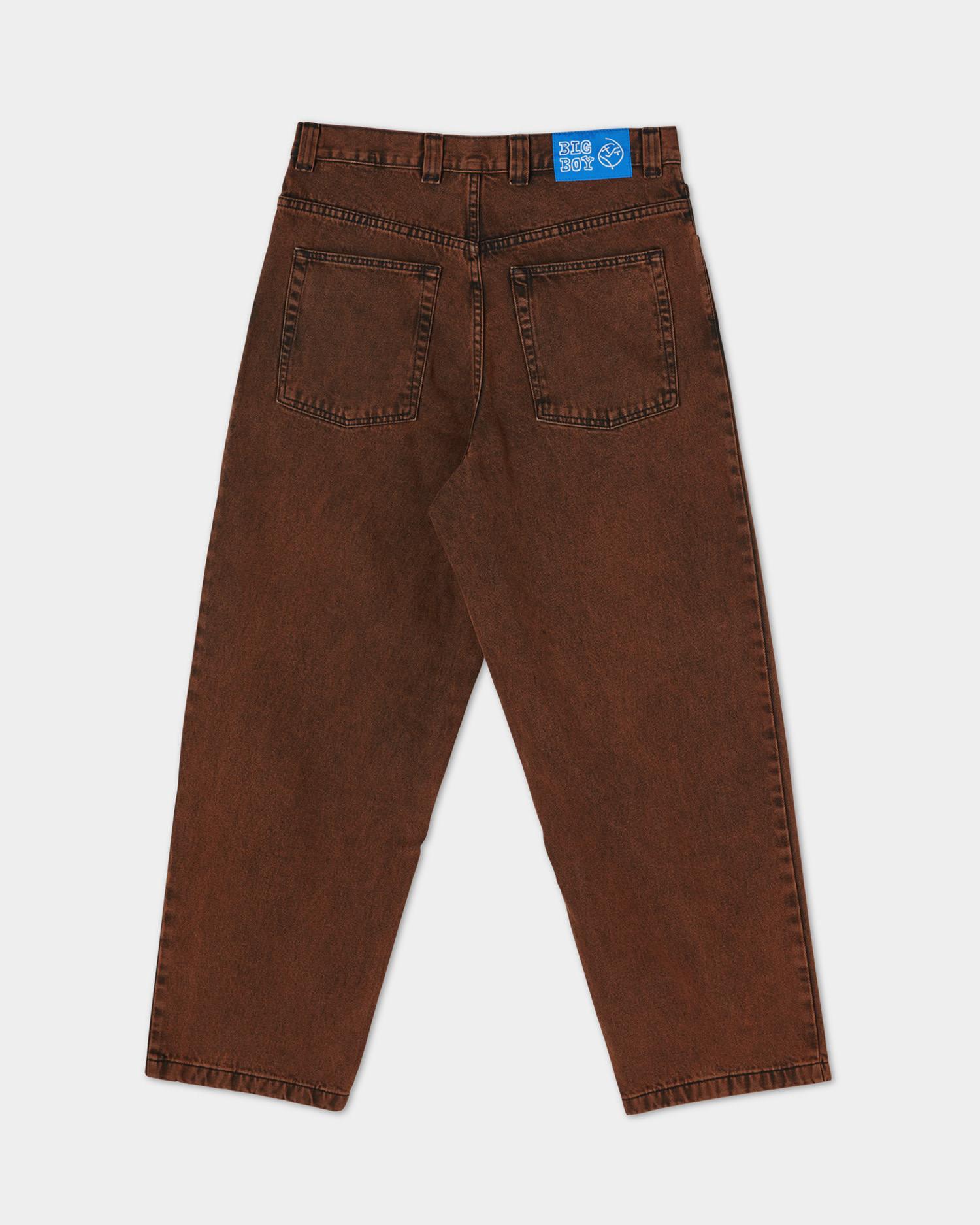 Polar Big Boy Jeans Pants Orange Black