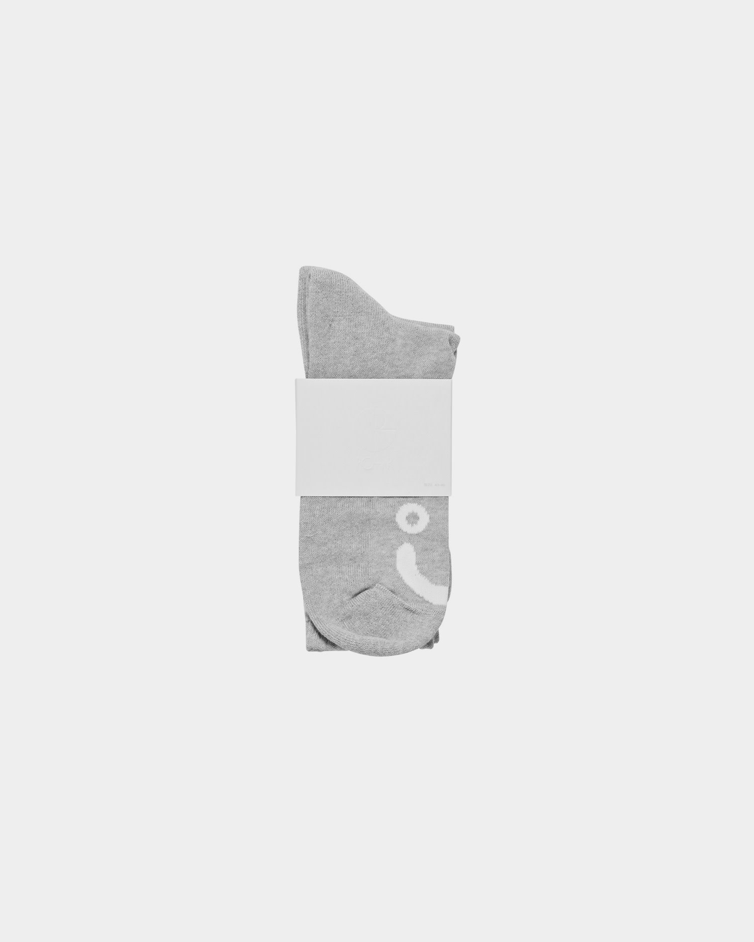 Polar Happy Sad Socks Heather Grey