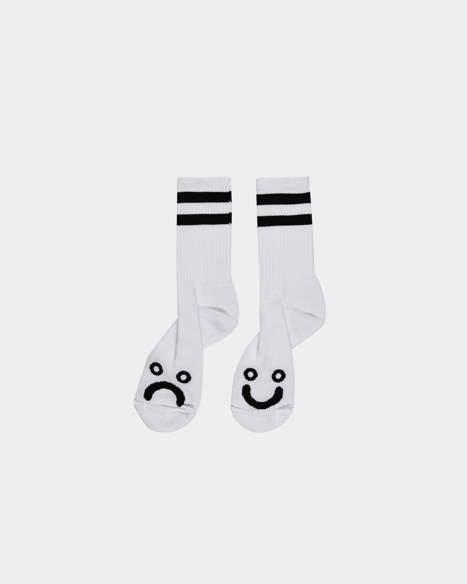 Polar Happy Sad Socks White