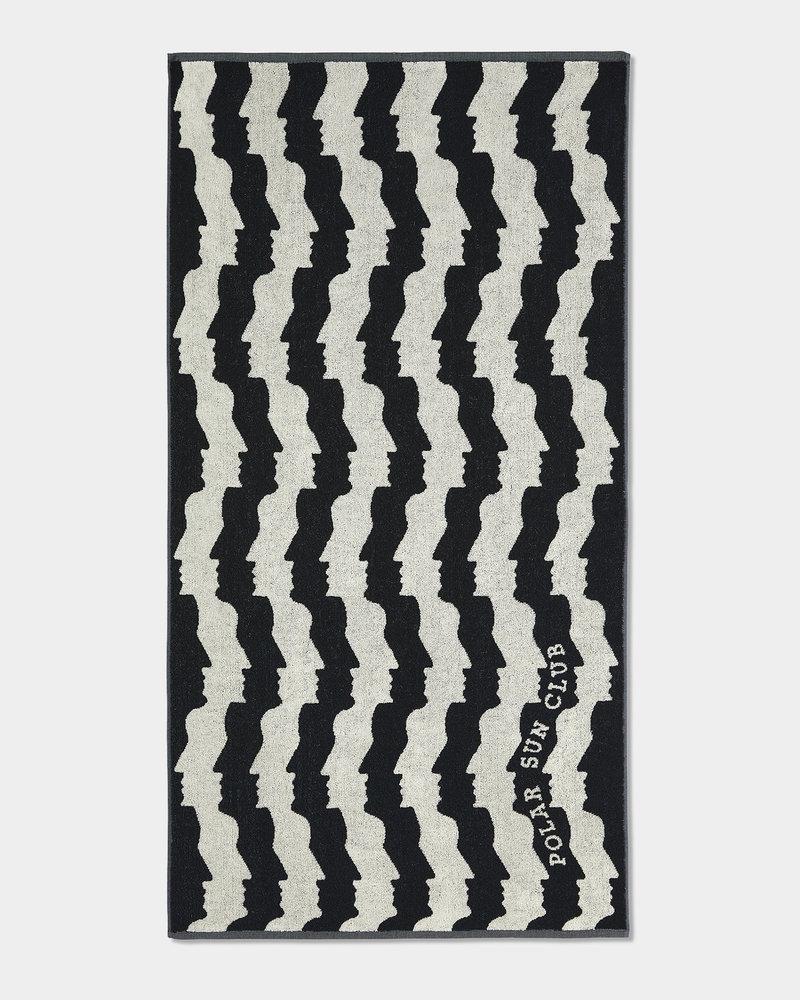 Polar Polar No Complies Faces Beach Towel Black 70x140