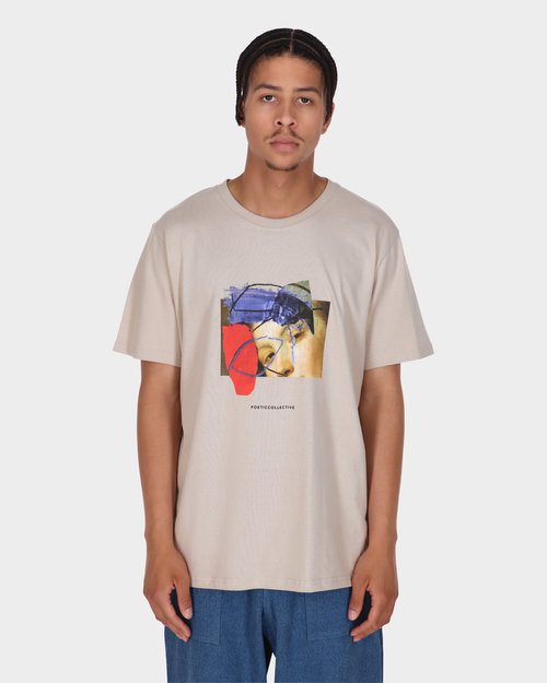 Poetic Collective Poetic Collective Half And Half T-shirt Sand