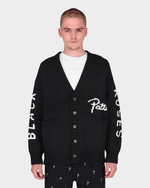 Patta Patta Black Roses Knitted Cardigan Black
