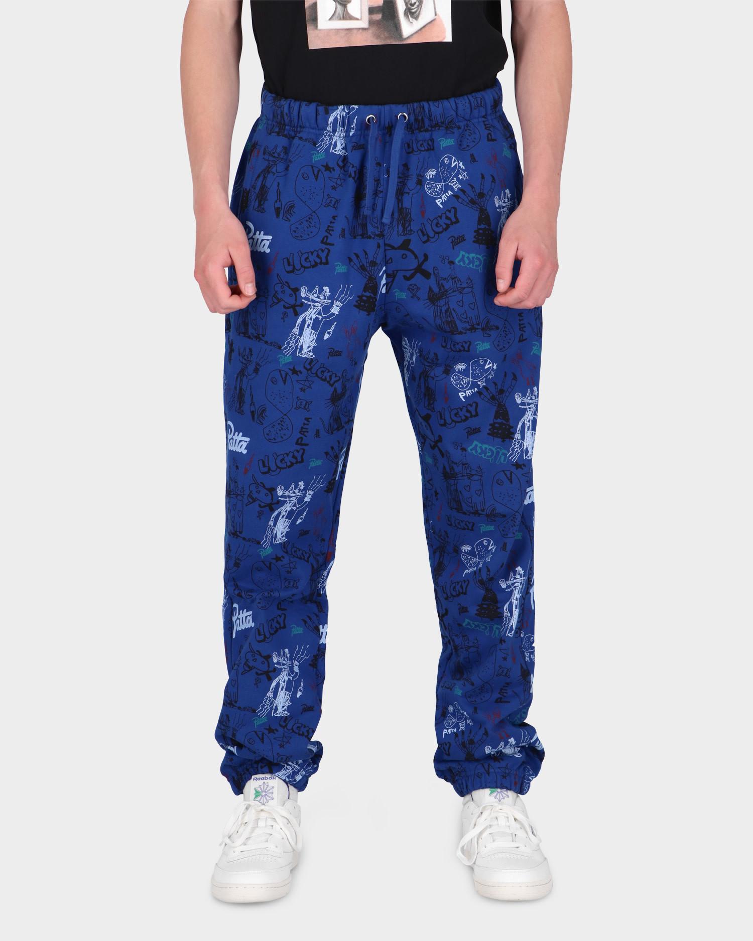 Patta Father & Son Jogging Pants Sodalite Blue/Multi